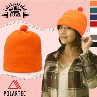 【SNOW TRAVEL】POLARTEC 輕量透氣刷毛保暖帽.輕便防風帽.遮耳帽(AR-13 陽光橙)