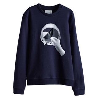 【摩達客】韓國進口設計品牌DBSW太空帽啤酒 圓領長袖T恤(現貨)