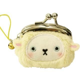 【UNIQUE】動物樂園迷你珠扣零錢包(小綿羊)
