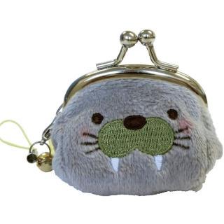 【UNIQUE】動物樂園迷你珠扣零錢包(海象君)