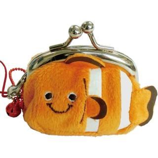 【UNIQUE】動物樂園迷你珠扣零錢包(小丑魚)
