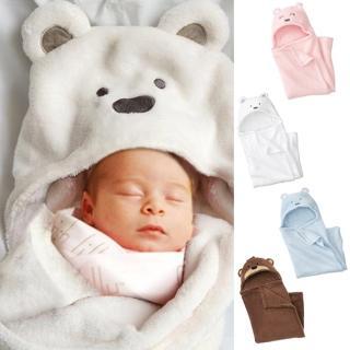 珊瑚絨動物造型連帽毛毯嬰兒包被(全系列三色)