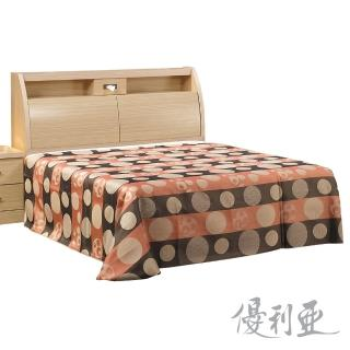 【優利亞-圓滿白橡】加大6尺床頭箱