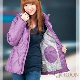 【JORDON】粉嫩 女款菱格羽絨外套(430)