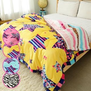 【Barbie】《瘋狂大降價》特級滑柔水貂絨鋪棉增溫毯被(5款)