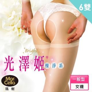【瑪榭】光澤姬。裸靜系-免脫型雕空褲襪/絲襪(6入組)