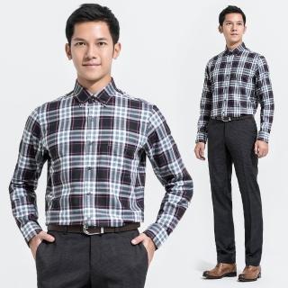 【Christian】大格紋休閒襯衫_黑灰白粉(RW356-85)