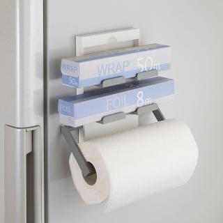 【日本Belca】磁吸式保鮮膜紙巾架(白彩)