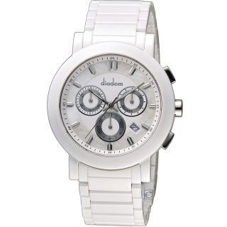 【Diadem】黛亞登 巴黎時尚計時陶瓷腕錶(8D1407-631S-W)