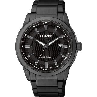 【CITIZEN】Eco-Drive 都會時尚光動能腕錶-黑/42mm(BM7145-51E)