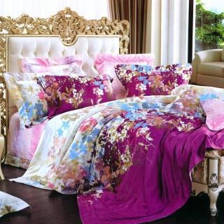 【Betrise伊甸花園】頂級100%加大60支長絨棉四件式兩用被床包組