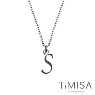 【TiMISA】字母墜 純鈦項鍊(E)