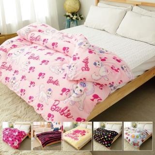 【Barbie X Smiley】《瘋狂大降價》鋪棉雪芙絨暖暖厚毯被(23款)
