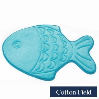 【棉花田】大眼魚舒壓記憶綿吸水防滑造型踏墊(48x68cm)