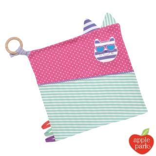 【美國 Apple Park】農場好朋友 有機棉萬用方巾 - 時尚靚貓