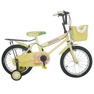 【Adagio】16吋卡布奇諾打氣胎童車附置物籃(米色)