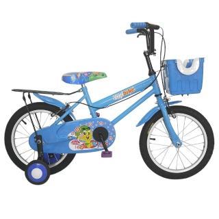【Adagio】16吋卡布奇諾打氣胎童車附置物籃(藍色)