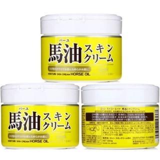 【日本馬油Loshi】天然潤膚乳霜 220gx3入組