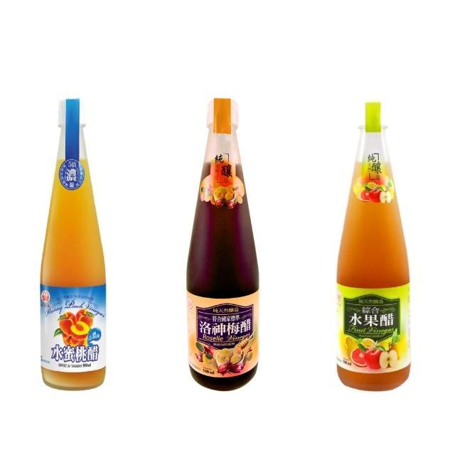 【崇德發】洛神梅健康醋-綜合水果醋(任選500毫升*1瓶)