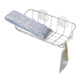 【日本LEC】不鏽鋼流理台吸盤置物架