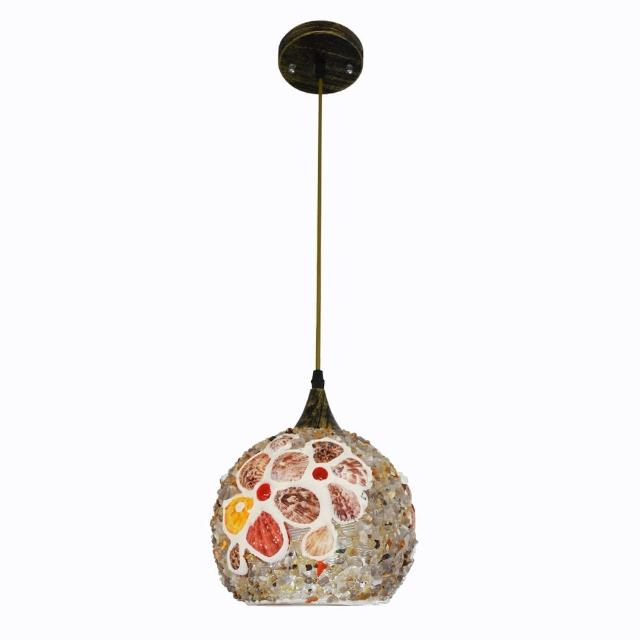 【華燈市】貝殼彩繪吊燈(彩繪創意風)
