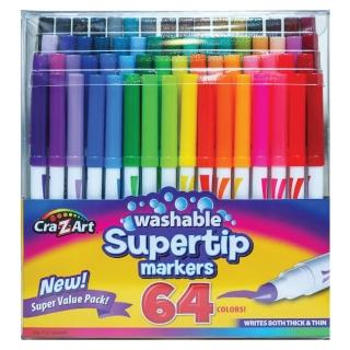 【美國Cra-Z-Art】64色可水洗彩色筆