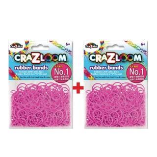 【美國Cra-Z-Art】Cra-Z-Loom圈圈彩虹編織 橡皮筋補充包 亮粉紅x2包(共600條)