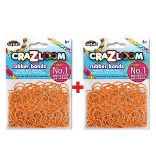 【美國Cra-Z-Art】Cra-Z-Loom圈圈彩虹編織 橡皮筋補充包 橘黃x2包(共600條)