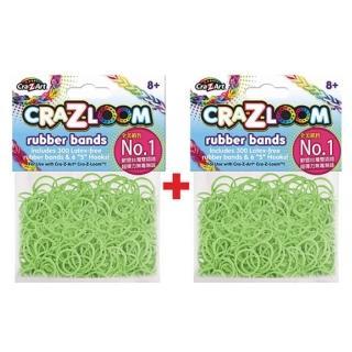【美國Cra-Z-Art】Cra-Z-Loom圈圈彩虹編織 橡皮筋補充包 螢光綠x2包(共600條)