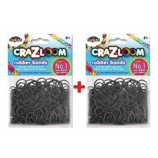 【美國Cra-Z-Art】Cra-Z-Loom圈圈彩虹編織 橡皮筋補充包 寶石黑x2包(共600條)