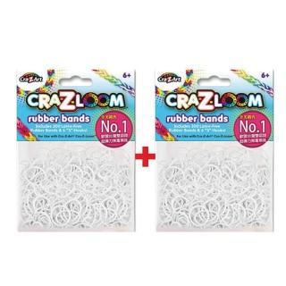【美國Cra-Z-Art】Cra-Z-Loom圈圈彩虹編織 橡皮筋補充包 純白x2包(共600條)