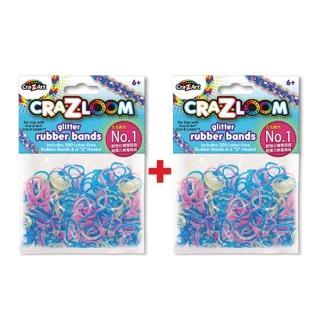 【美國Cra-Z-Art】Cra-Z-Loom圈圈彩虹編織 橡皮筋補充包 彩光x2包(共400條)