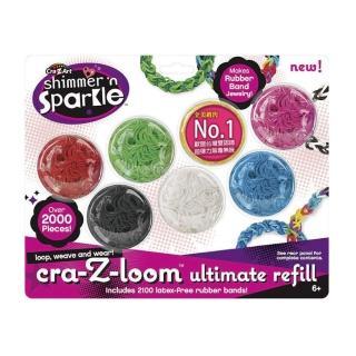 【美國Cra-Z-Art】Cra-Z-Loom圈圈彩虹編織 旗艦補充包(2100條)