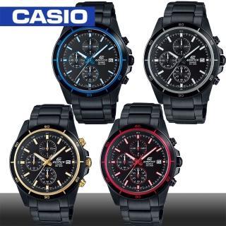 【CASIO 卡西歐 EDIFICE 系列】日系三眼迷人風範賽車錶(EFR-526BK)