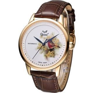 【Ogival】愛其華 微砌彩繪機械腕錶-鳥(1929-24.7AGR)