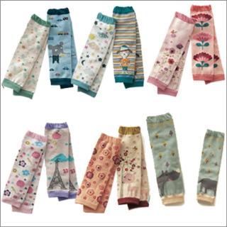 寶寶純棉保暖護膝襪套(三雙入)