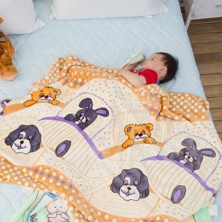 【eyah】頂級超舒柔雙面雪貂絨童毯/嬰幼兒毯(趣味家族)