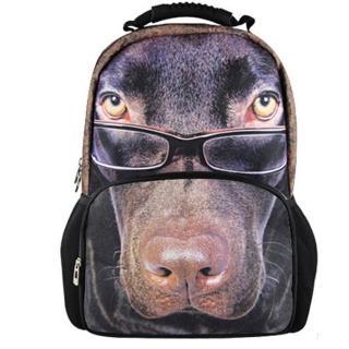 【DOUBLE JJ】立體3D動物15吋電腦後背包(眼鏡狗JJ-3181A)