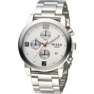 【VOGUE】潮流戰警計時腕錶(2V1407-251S-S)