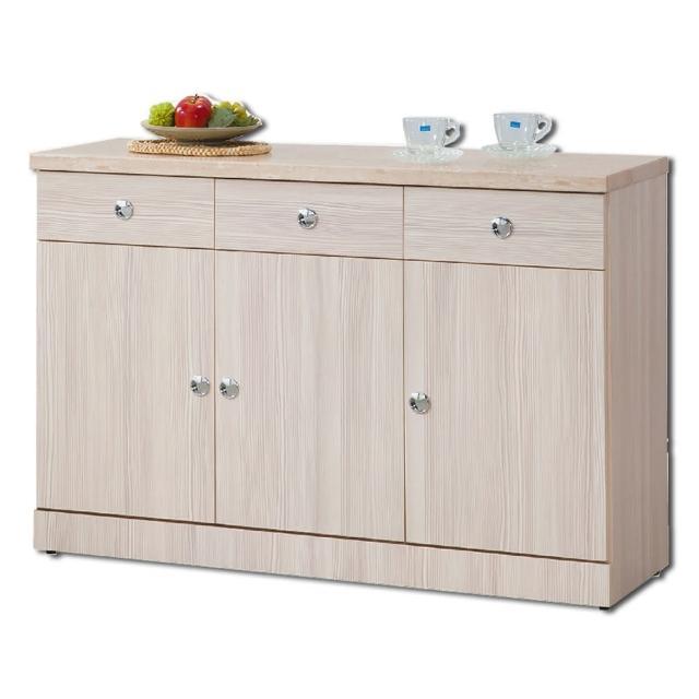 【顛覆設計】察理白雲杉仿石面4尺碗盤櫃