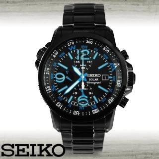 【SEIKO 精工】光動能大錶徑鋼帶錶男錶(SSC079P1)