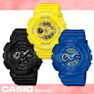 【CASIO 卡西歐 Baby-G 系列】甜蜜多彩潮流活力款女錶(BA-110BC)