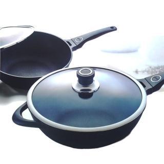 【王樣OSAMA】日式黑金鋼炒鍋-33cm(贈:木煎匙*1)