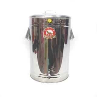 【生活King】不鏽鋼保溫保冷茶桶/冰桶(27L-附水龍頭)