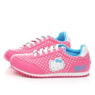 【三麗鷗】Hello Kitty女款 點點風撞色休閒鞋(914117-桃)