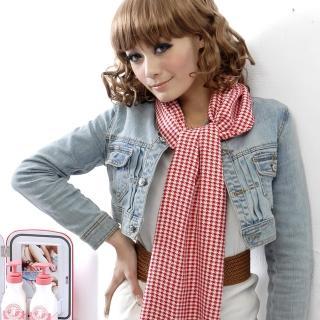 【Lady c.c.】柔軟經典格紋百搭圍巾(紅格紋)
