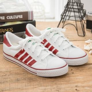 【中國強】中國強 MIT 經典休閒帆布鞋CH81(白紅)