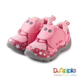 【Dr. Apple 機能童鞋】噴水大象飛越星空閃亮亮童鞋(粉)