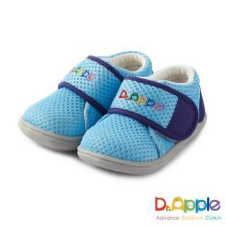 【Dr. Apple 機能童鞋】大LOGO馬卡龍色小童鞋(藍)