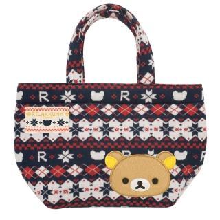 【San-X】拉拉熊戀戀針織系列棉織手提袋
